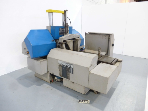 AUTOMATIC HORIZONTAL DOUBLE COLUMN BANDSAW, MANUFACTURED 1996 SERIAL NUMBER 696227, 303MM DIAMETER, VARIABLE SPEED 20-120 METRES PER MINUTE, SWARF CONVEYOR, BUNDLE CLAMP TO FEED VICE