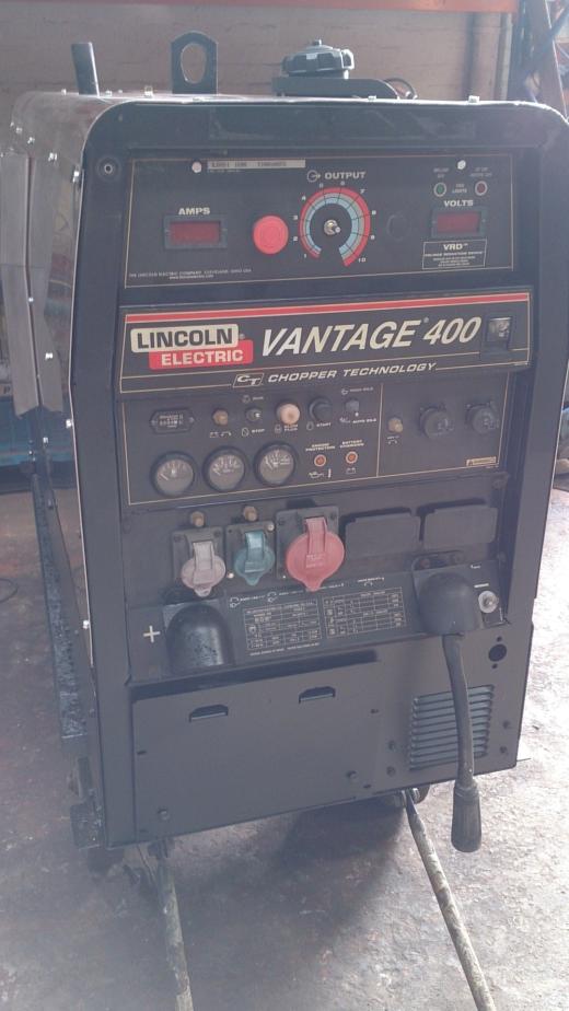lincoln vantage 400 diesel welding generator for sale. Black Bedroom Furniture Sets. Home Design Ideas
