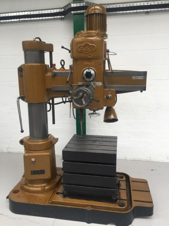 MAS VR2 Radial Arm Drilling Machine with Box Table for ...