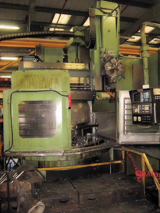 WEBSTER & BENNETT CNC 1800 Series S Elevating Rail Vertical Turning and Boring Machine